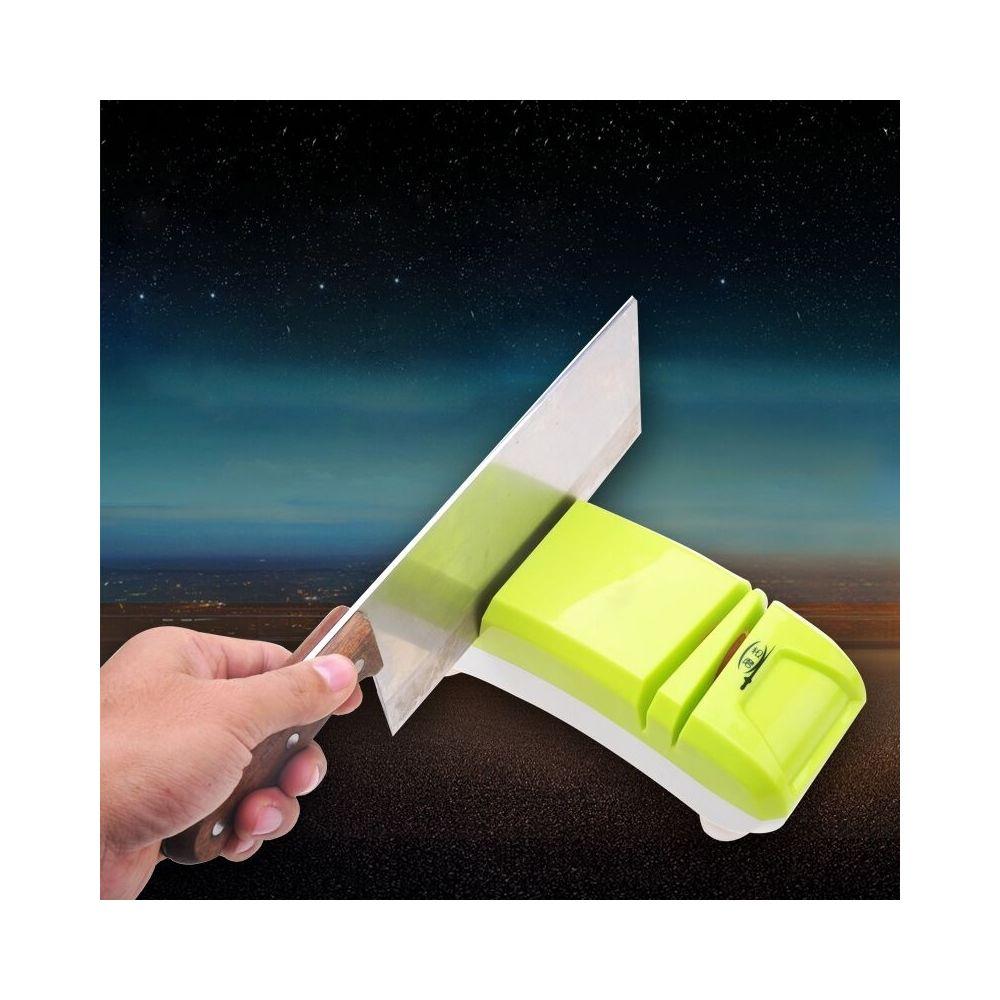 Wewoo Aiguiseur vert Mini Couteau Électrique Couteaux de Cuisine Système D'affûtage, US Plug