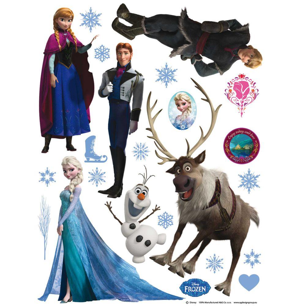 Bebe Gavroche Stickers géant La Reine des Neiges Frozen Disney
