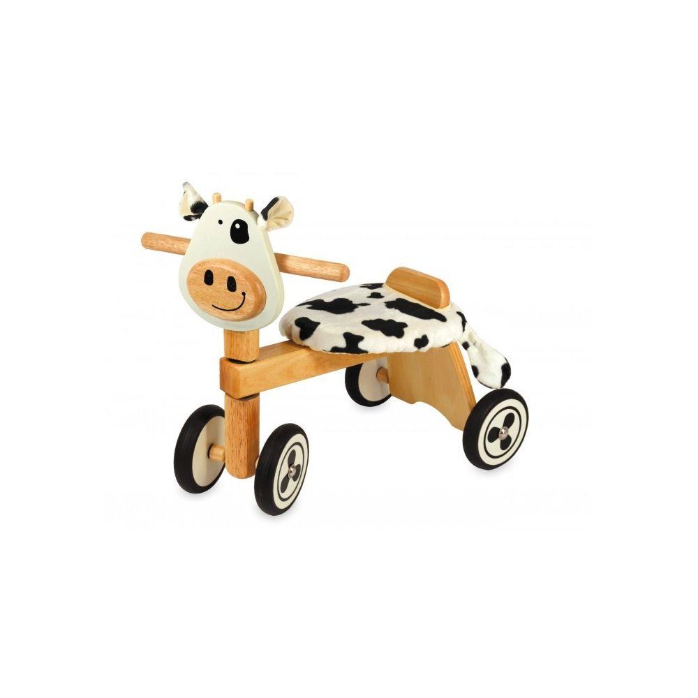 I M Toy Porteur Vélo 4 roues en bois Clara la vache IM87520