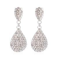 4f703119d58 Wewoo - Boucles d oreilles argent 1 Paire De Mode Et De Luxe Incrusté Top