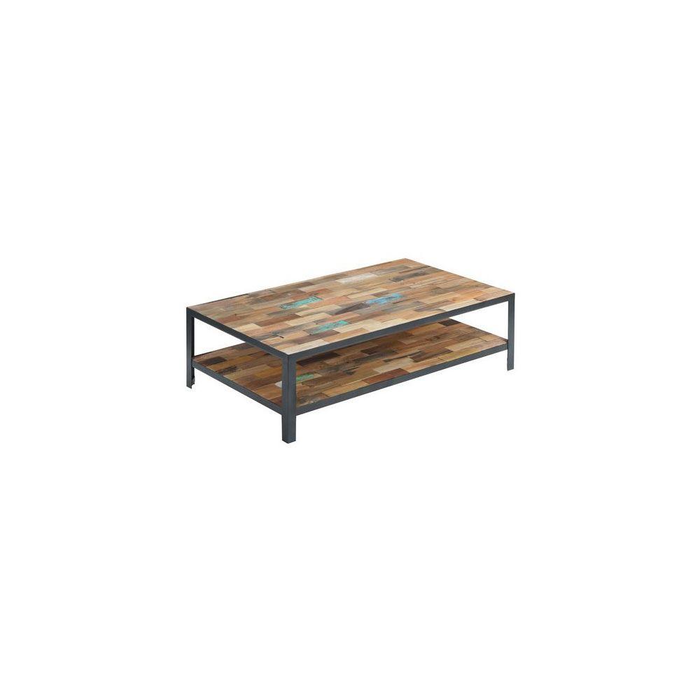 Tousmesmeubles Table basse rectangulaire double plateau - FABRIK