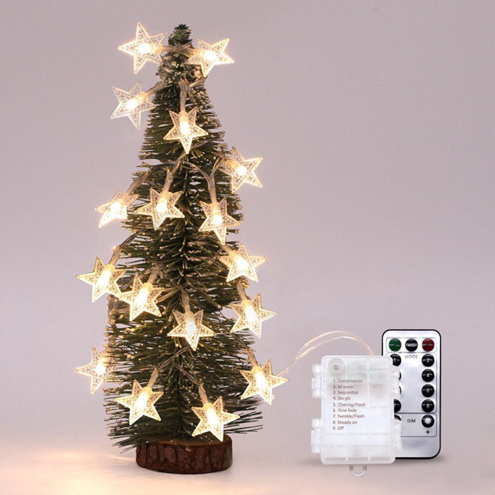 Generic Fée des étoiles de lumières Dimmable avec télécommande 5M40ledLights Noel