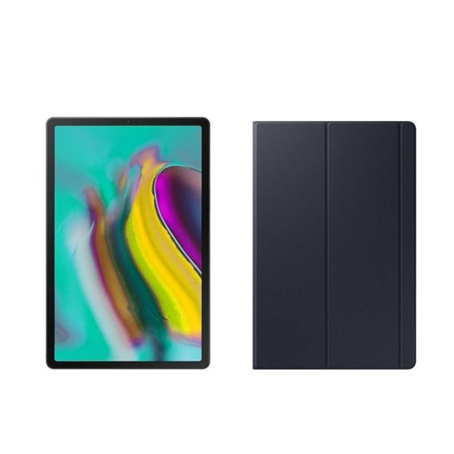 Samsung - Galaxy Tab S5e - 128 Go - Wifi + 4G - SM-T725 - Noir + Book Cover Galaxy Tab S5e - Noir - Tablette tactile
