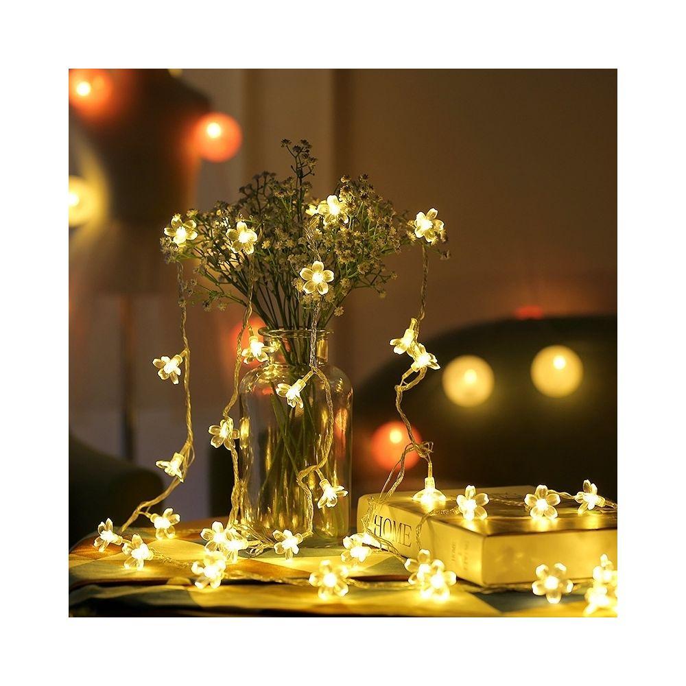 Wewoo Guirlande LED 5m 50 lumière décorative de vacances fleurs cerisier, alimenté par batterie (blanc chaud)
