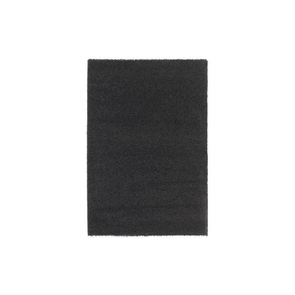 NAZAR TRENDY Tapis de salon Shaggy en polypropylene - 200 x 280 cm - Noir