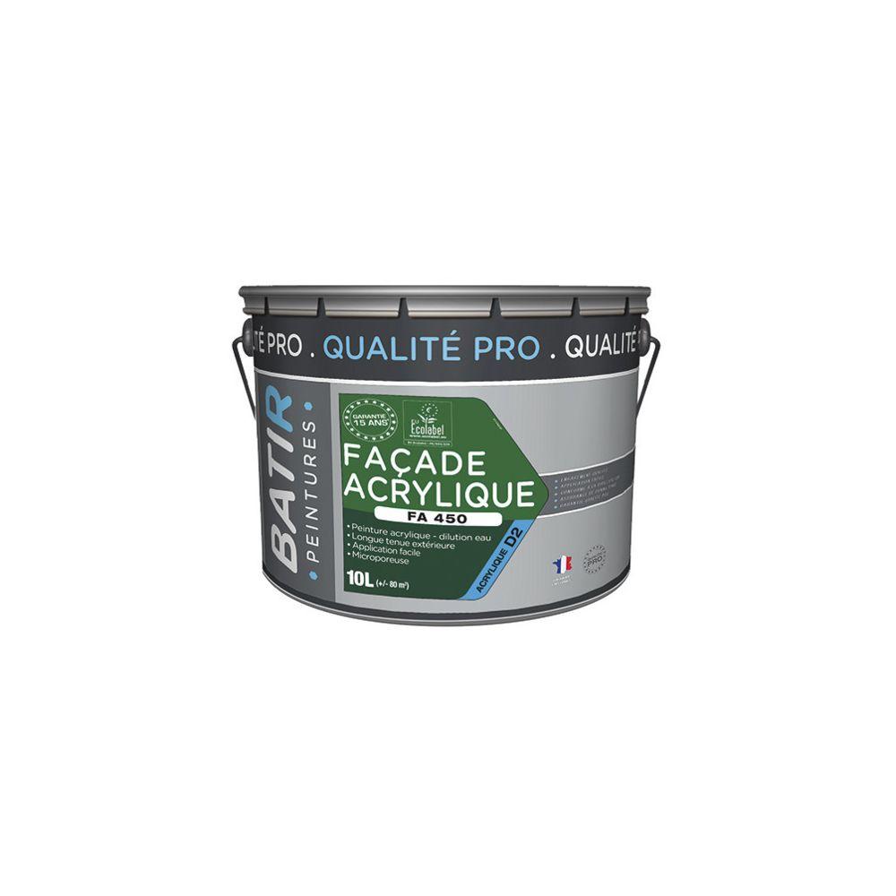 Batir Peintures Peinture acrylique Mat pour façade 10 L - Blanc - BAT111196 - Batir