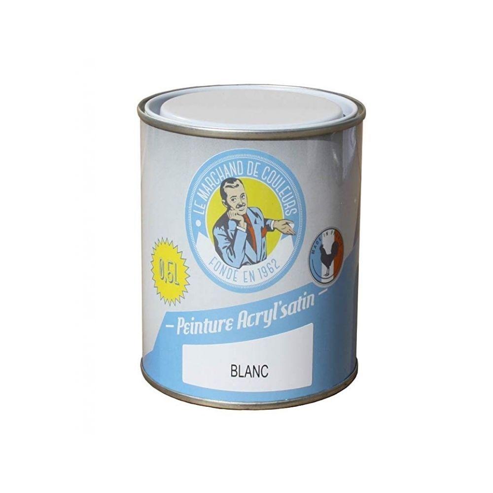 Onip Peinture acrylique - Murs et plafonds - Satin - Blanc - 0.5 L - ONIP