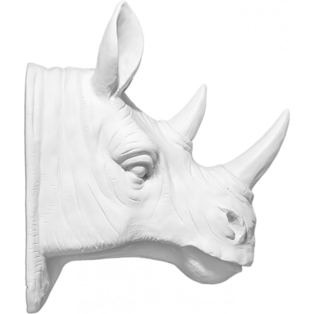Privatefloor Tête de rhinocéros taxidermie résine