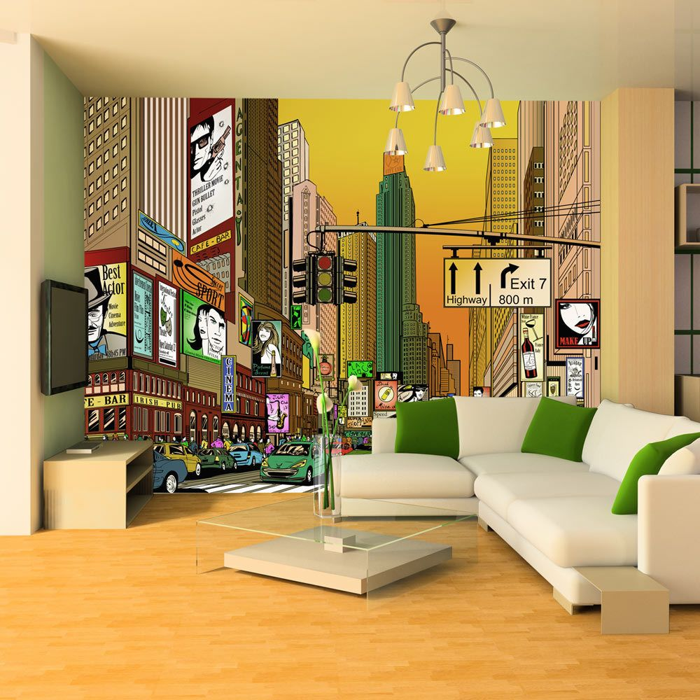 Bimago Papier peint - Ville animée - NY - Décoration, image, art | Ville et Architecture | New York |
