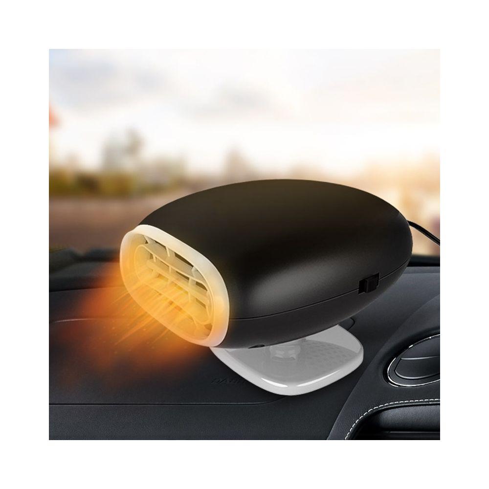 Wewoo Chauffage de voiture Hot Cool Fan Pare-brise Fenêtre Désembuage DC 12Vversion ordinaire Noir