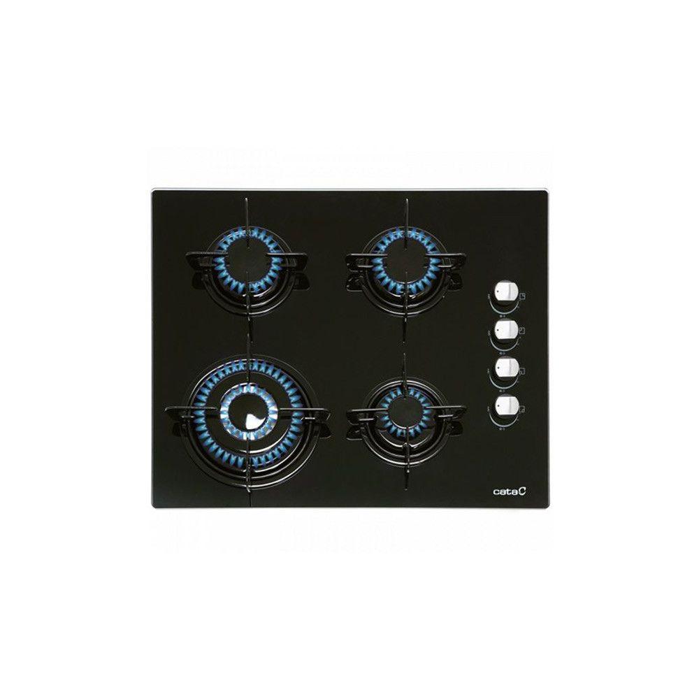 Totalcadeau Plaque au gaz à 4 feux 7500W 60 cm Noir