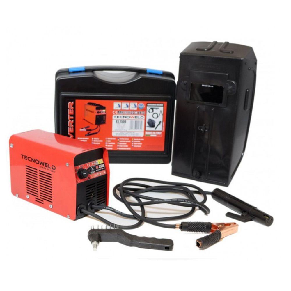 Tecnoweld Poste à souder inverter 80 ampères ES2500 TECNOWELD soudure à l'arc MMA pour baguette de soudure 1.6 à 2.5 mm acier inox