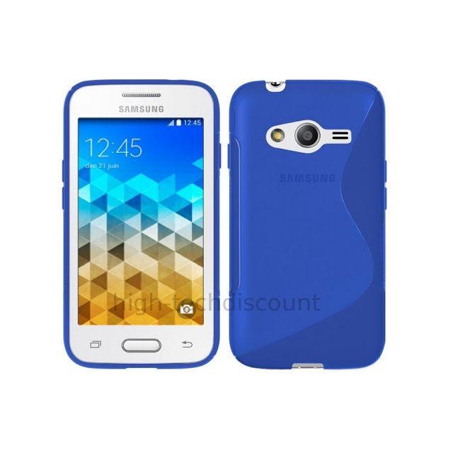 Htdmobiles - Housse etui coque pochette silicone gel fine pour Samsung G318H Galaxy Trend 2 Lite film ecran - BLEU