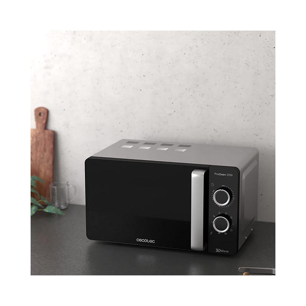 Cecotec Micro-ondes de 20L avec grill et minuterie 700W noir