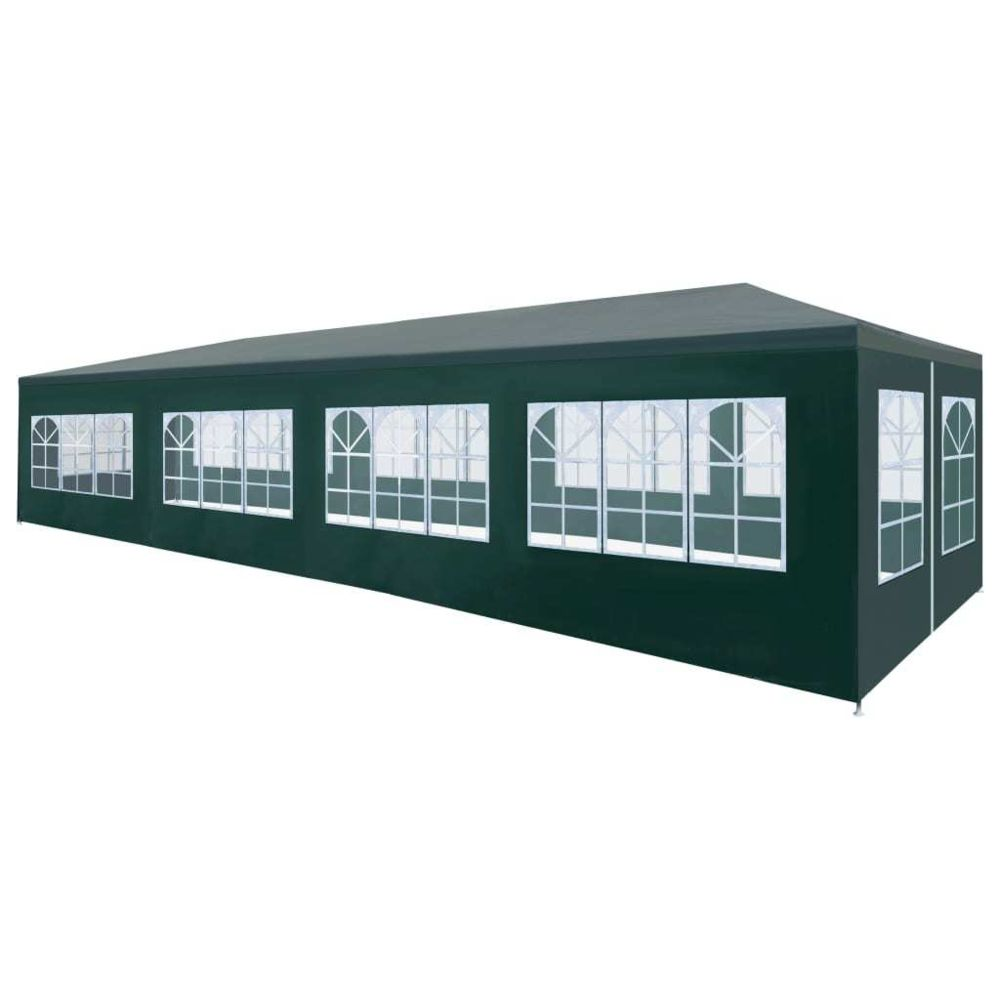 Vidaxl vidaXL Tente de Réception 3x12 m Vert Tonnelle Chapiteau de Jardin Pavillon