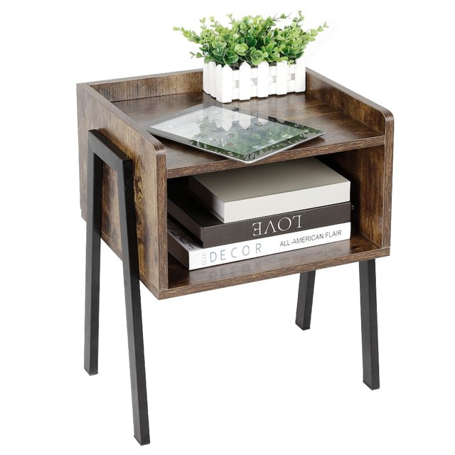 Ltppstore - Table d'appoint Table de chevet industrielle Table de chevet pour chambre - Chevet