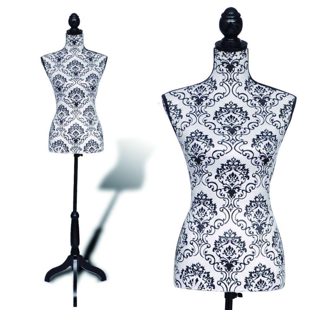 Helloshop26 Buste de couture hauteur réglable mannequin femme 2002011