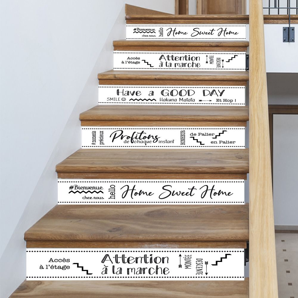 Set 3d Auto-adh/ésif De No/ël Chalet Escalier Stickers Muraux D/écalcomanies D/écoratives Cr/éatives Bricolage Art Murale Escaliers Amovibles Pvc Papier Peint Imperm/éable Pour Salon D/écoration 6pcs