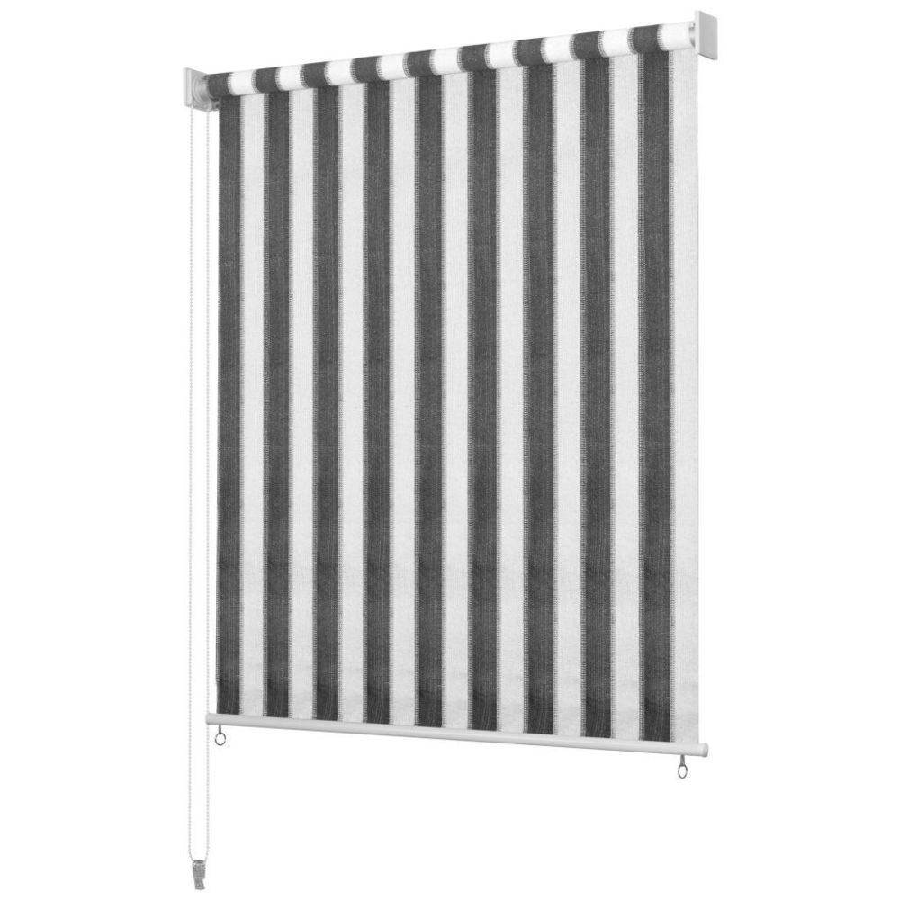 Uco UCO Store roulant d'extérieur 120x230 cm Rayures Anthracite / Blanc