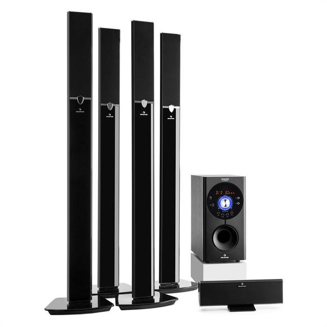 Auna - auna Areal 653 Système home cinema surround 5.1 Bluetooth USB SD AUX 145W auna Auna   - Home-cinéma