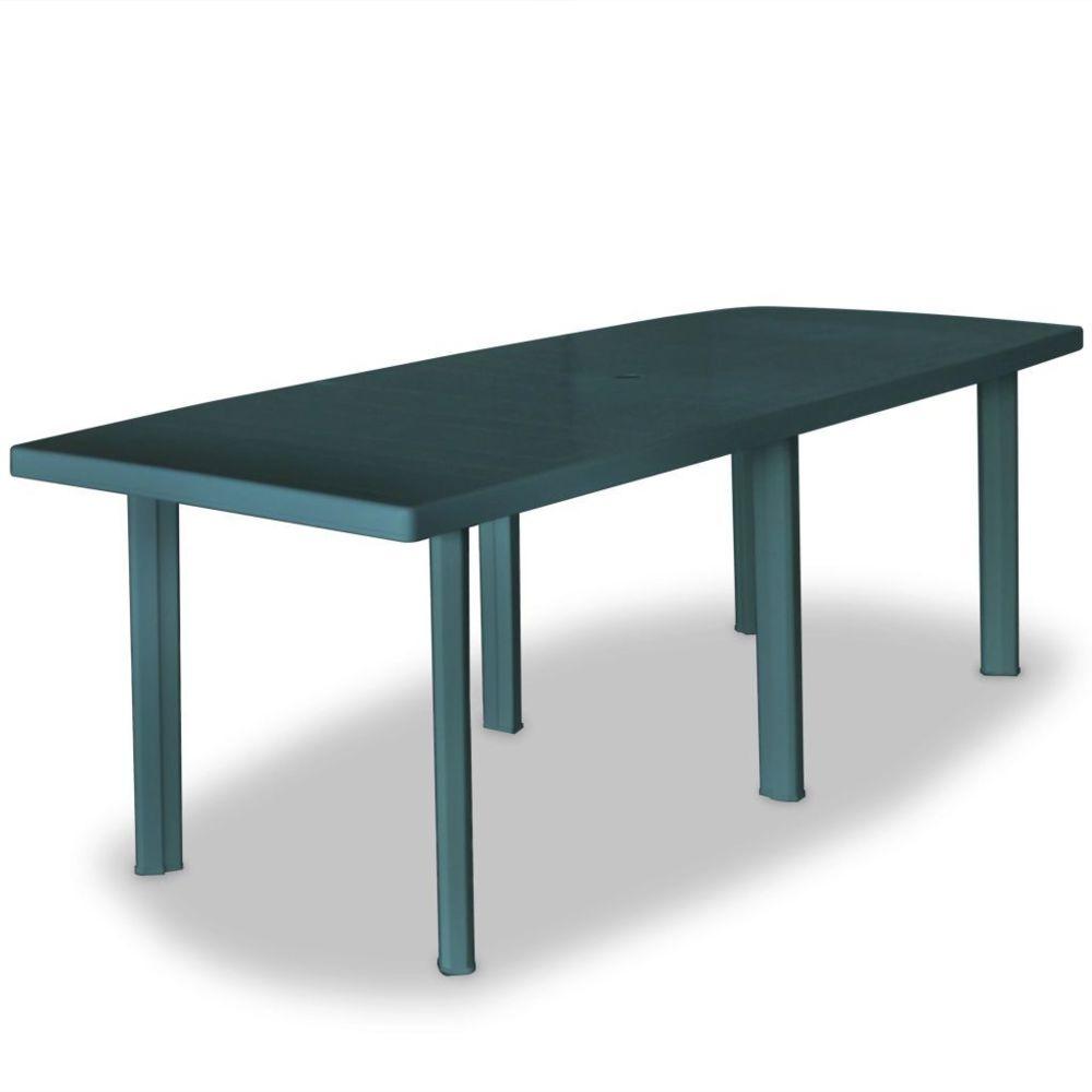 Vidaxl Table de jardin 210 x 96 x 72 cm Plastique Vert   Vert