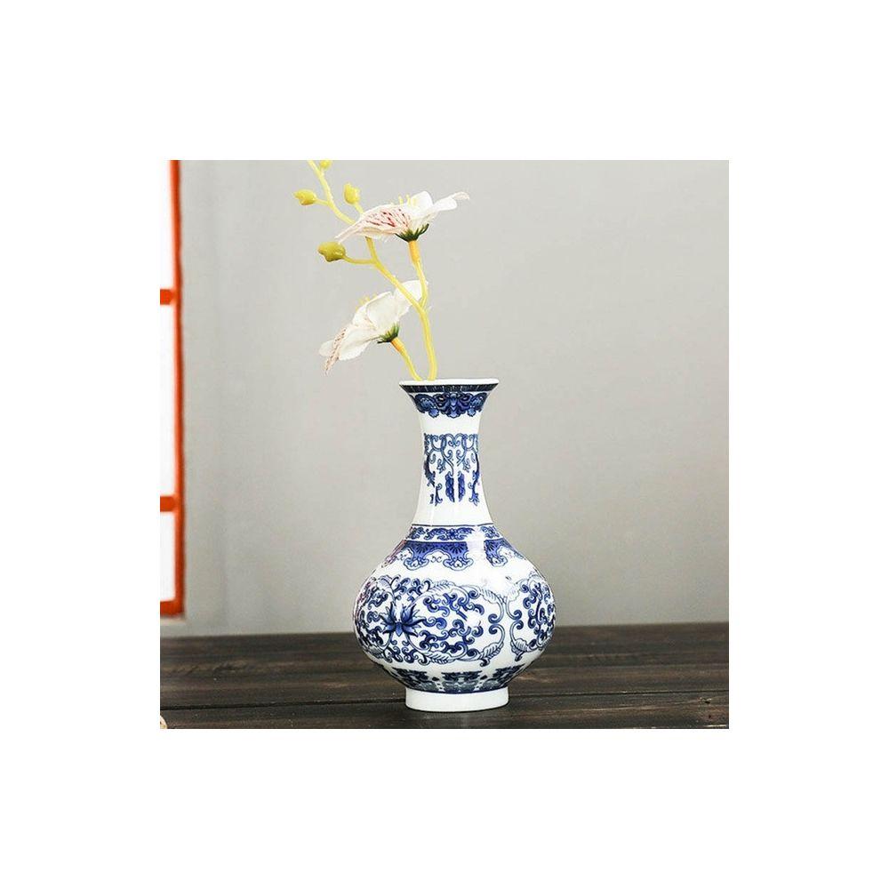 Wewoo Tenture murale Fleur Antique Jardiniere Vase en Céramique Décoration Style Quatre