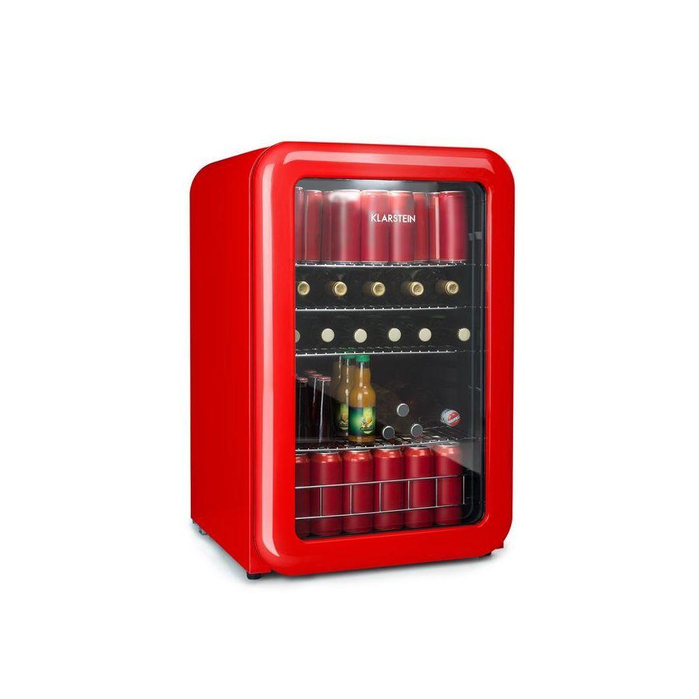 Klarstein Klarstein PopLife Réfrigérateur à boissons Minibar 115 litres 0-10°C design rétro rouge Klarstein