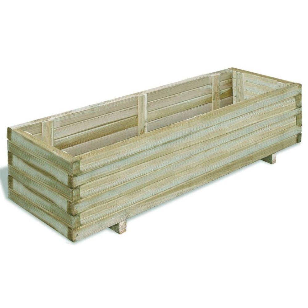 Vidaxl Jardinière rectangulaire en bois 120 x 40 x 30 cm | Vert