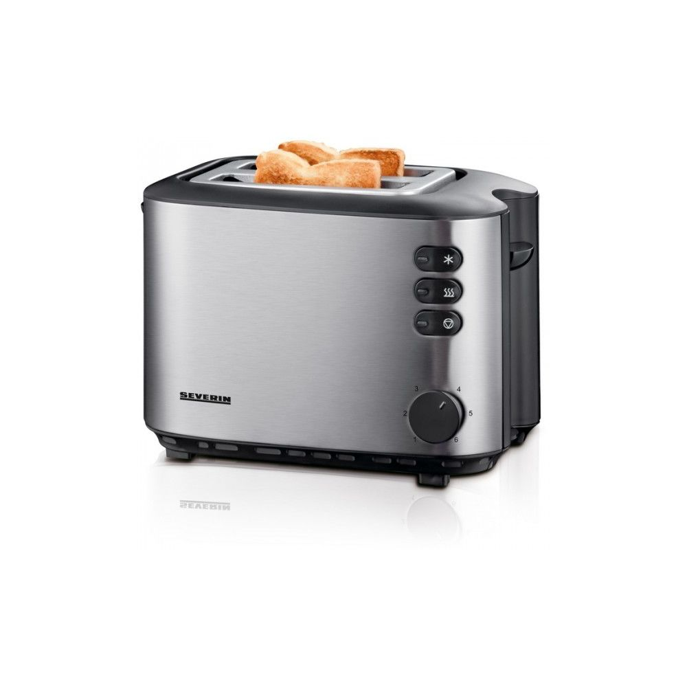 Severin Grille pain SEVERIN 2 fentes - 850W Inox AT2514