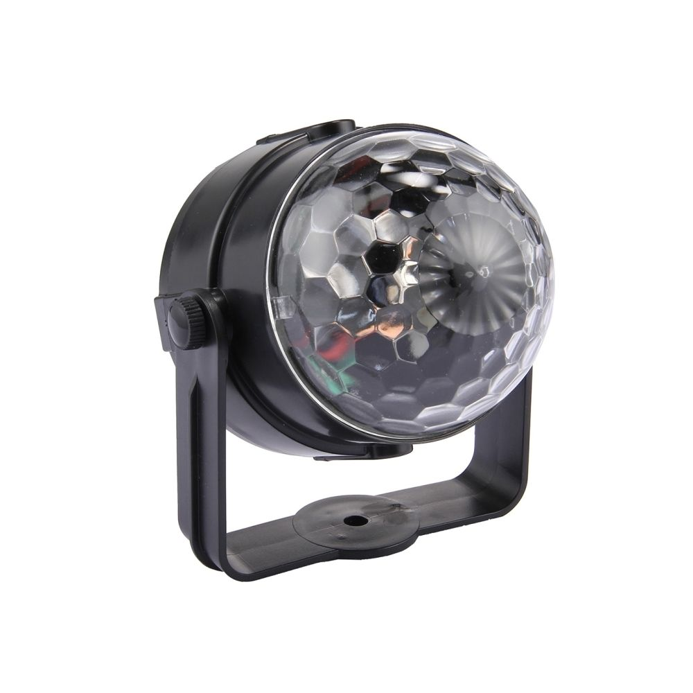 Wewoo LED Boule à facette Lumière de DJ de la magique tournante de commande sonore d'USB de 3W RVB allumant la DJ, DC 5V
