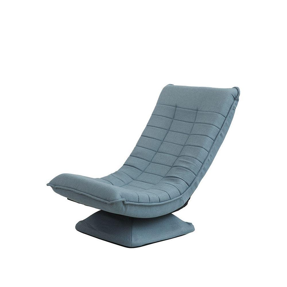 Wewoo X3 Casual Canapé Lazy Sofa Pliable Rotative Creative Tissu Lac Bleu