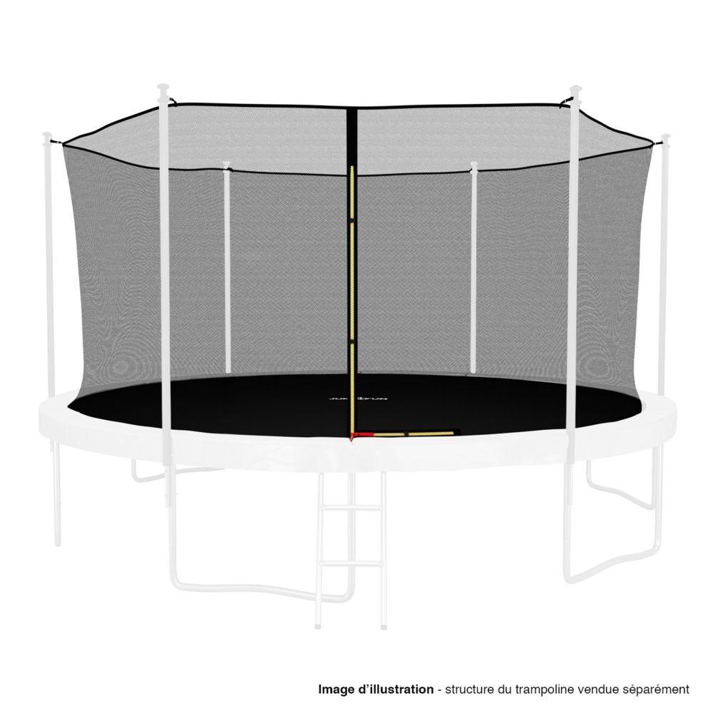 Kaia Sports Filet intérieur de sécurité pour trampoline avec bouchons hauts de perches et ficelle : ø 14Ft, 6 Perches