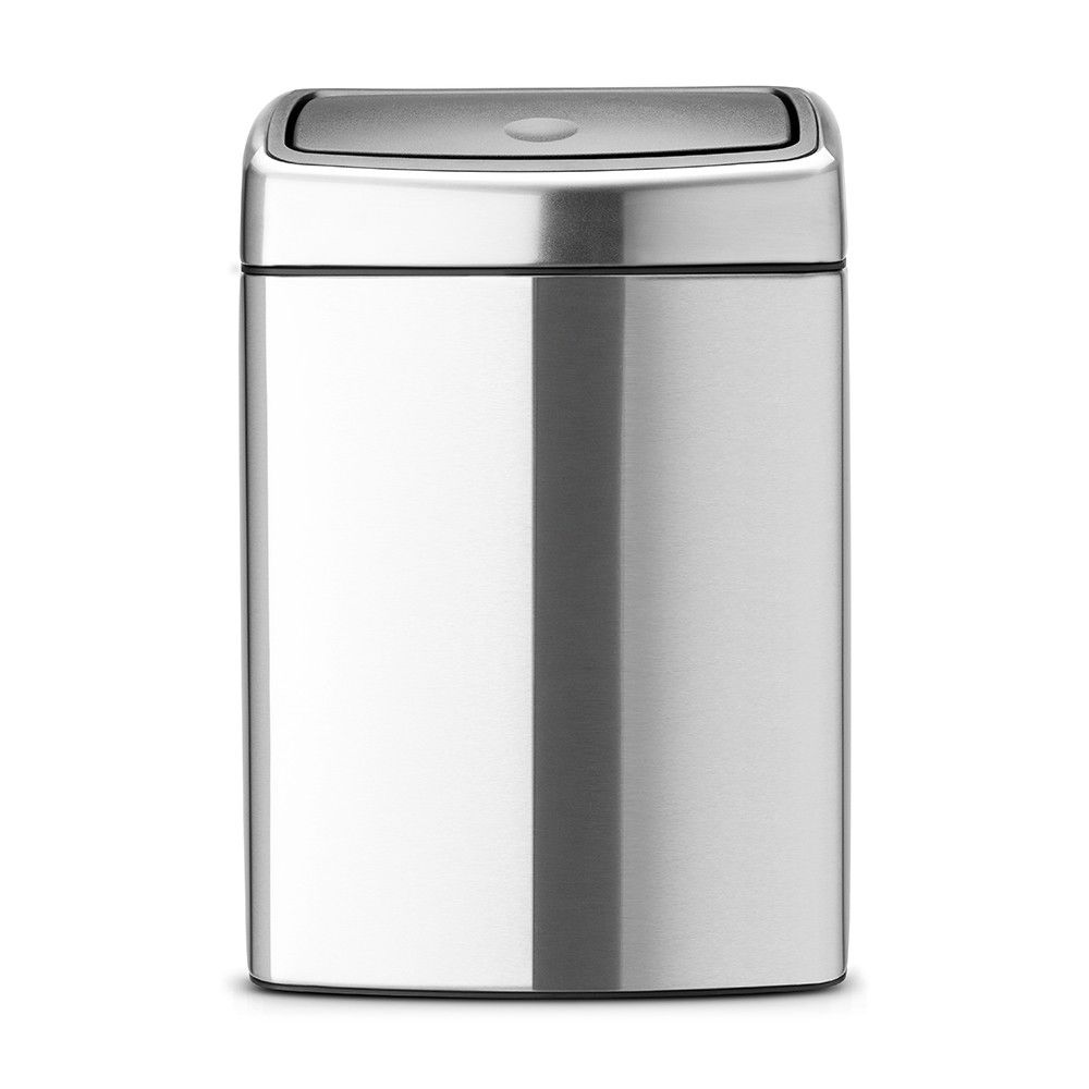BRABANTIA Poubelle rectangulaire 10 litres Touch Bin
