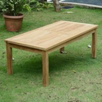Table jardin teck rectangulaire - Achat Table jardin teck ...