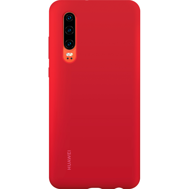 Huawei - Coque Silicone P30 - Rouge - Accessoires pour Smartphone Huawei P30
