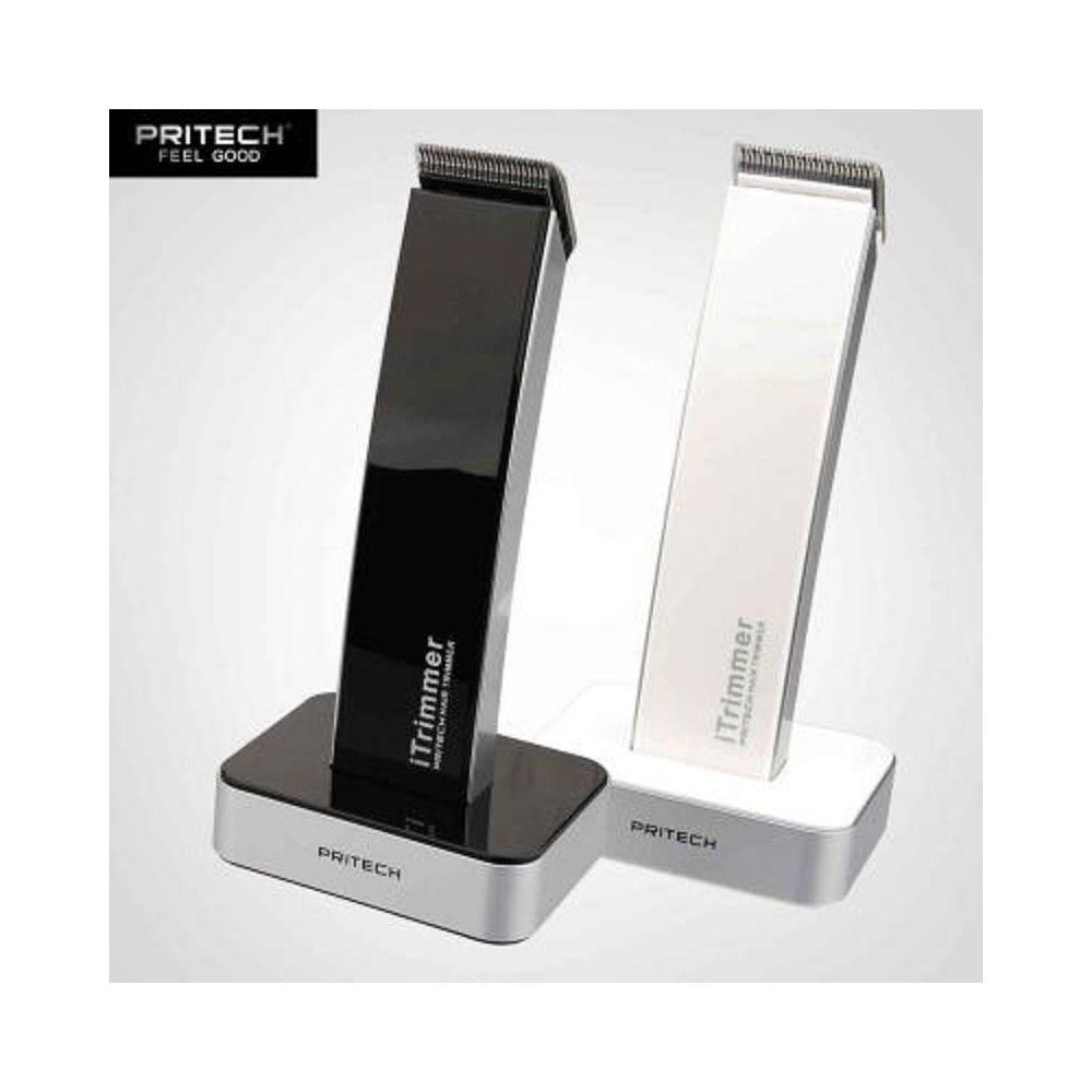 Pritech Tondeuse Cheveux Barbe et Corps Sans Fil Design Moderne Lame Acier Inox Blanc