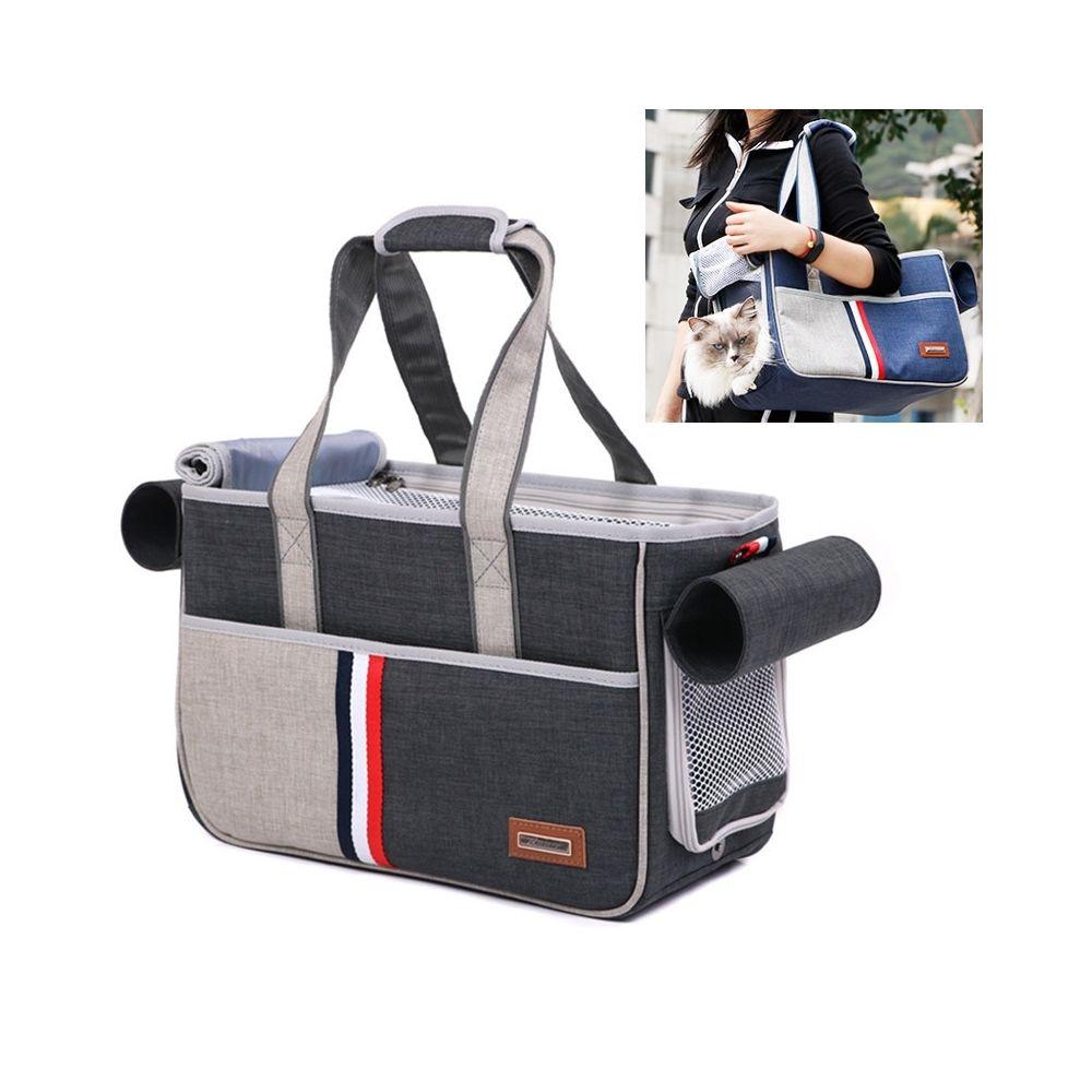 Wewoo DODOPET Outdoor Portable Oxford Dog Cat Pet Carrier Bag Sac à mainTaille 29 x 20 x 51 cm Gris