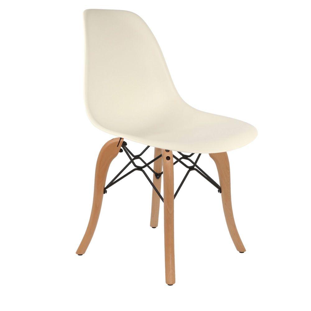 Chaise Privee Chaise DSW (Couleur: Blanc Cassé)