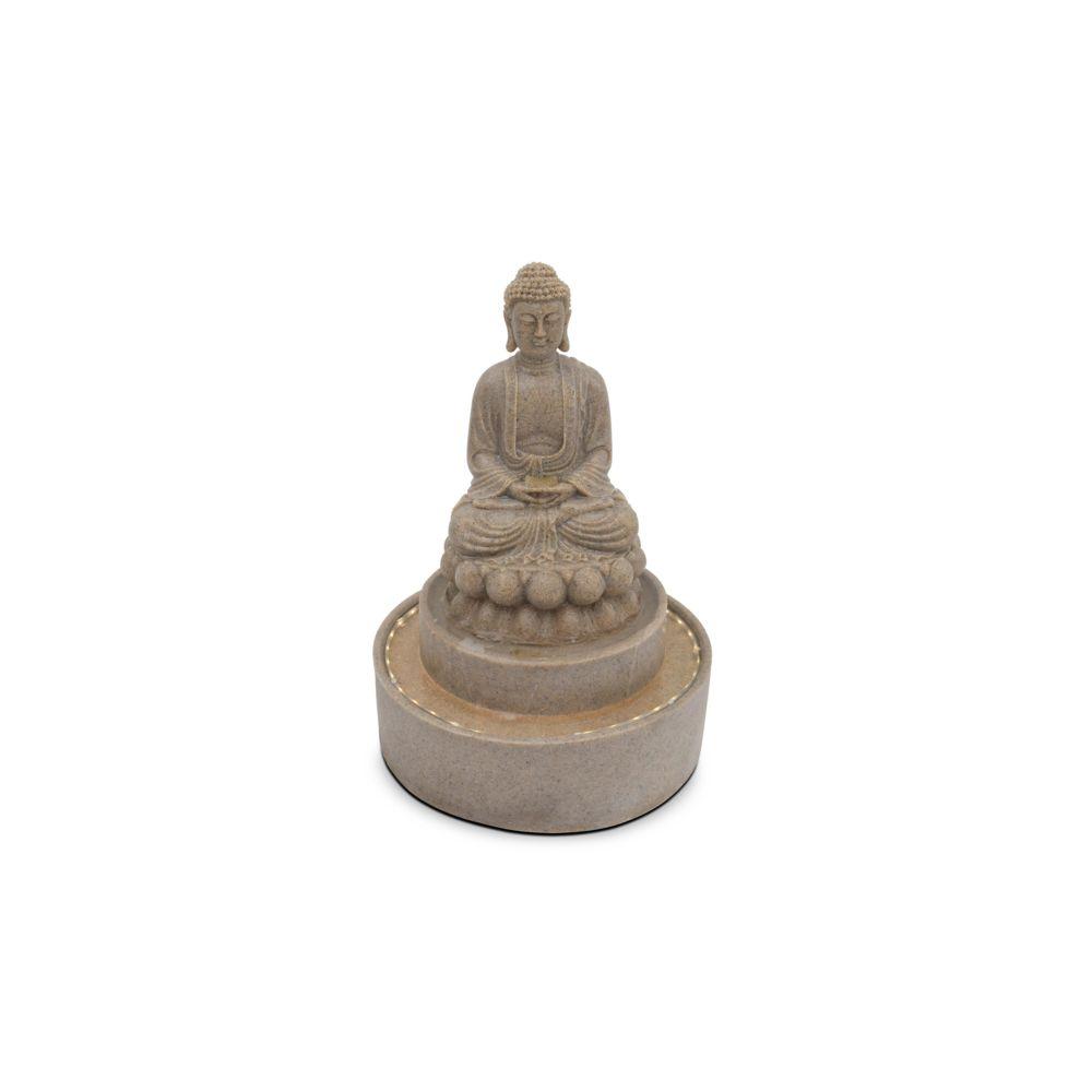 Oviala Fontaine Bouddha assis - Gris