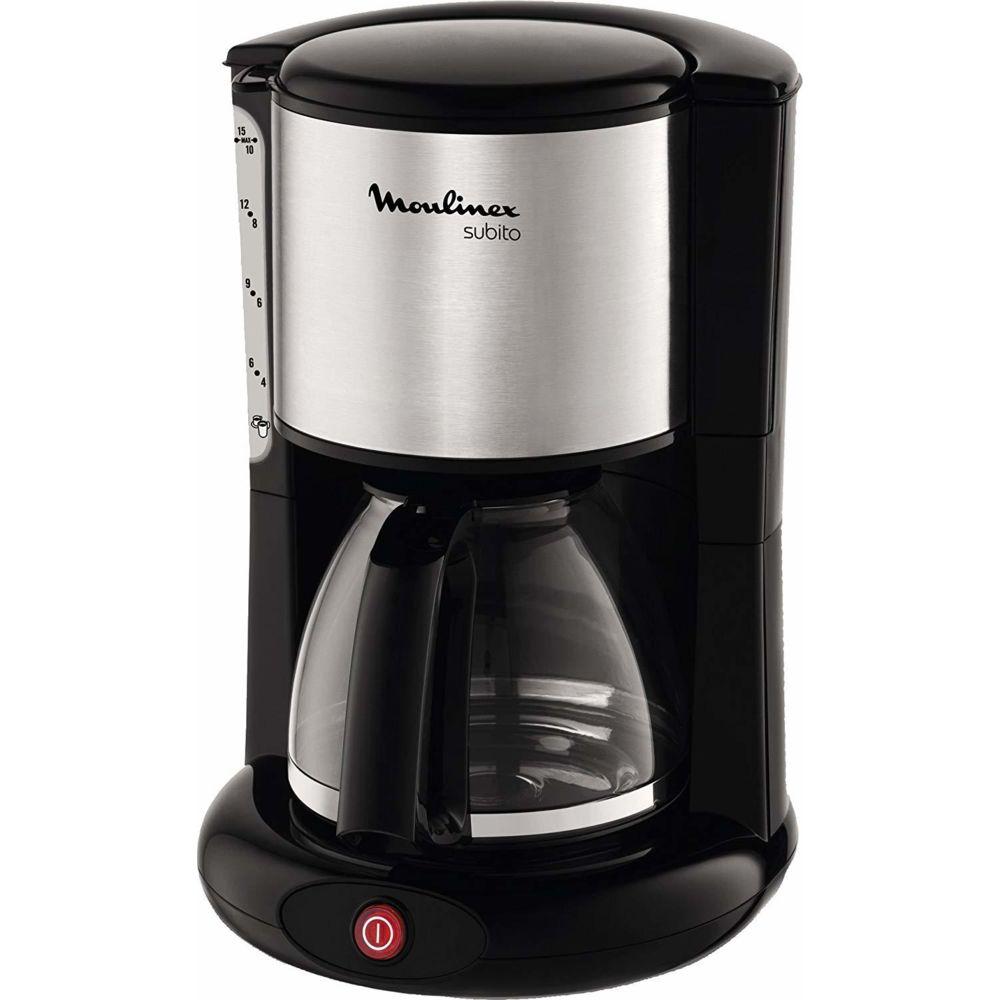 Moulinex cafetière électrique de 1,25L pour 10 a 15 tasses 1000W gris noir