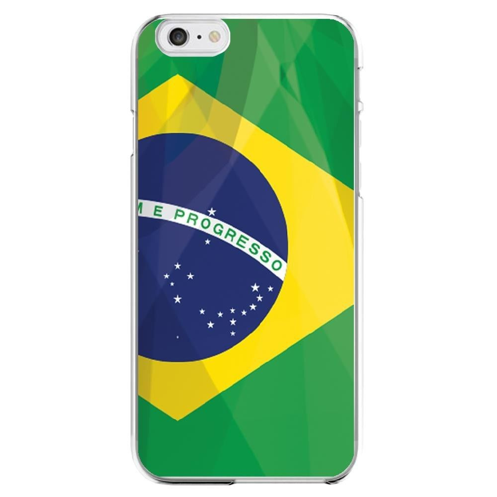 Shot - Coque Silicone IPHONE 6/6S Drapeau Bresil Bresilien APPLE Transparente Protection Gel Souple Housse Etui