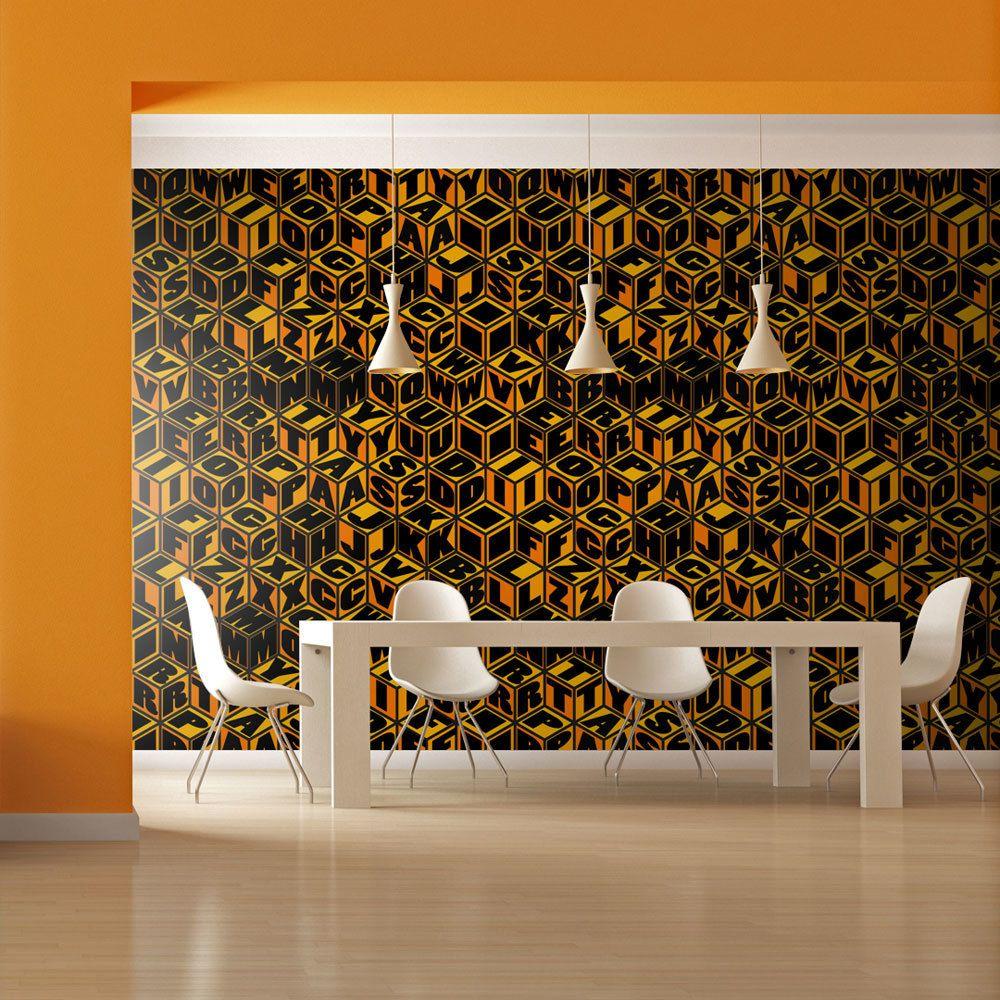 Bimago Papier peint | Cubes couleur miel | 450x270 | |