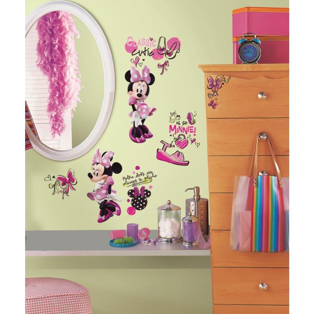 Mon Beau Tapis DISNEY MINNIE FASHIONISTA - Stickers repositionnables Minnie fashionista, Disney