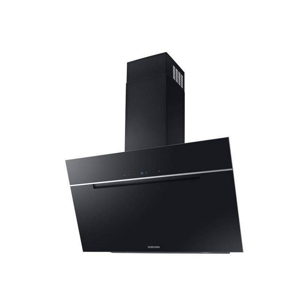 Samsung samsung - hotte décorative inclinée 90cm 760m3/h noir - nk36m7070vb