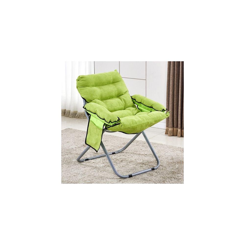 Wewoo Salon créatif pliant paresseux canapé chaise simple longue tatami vert