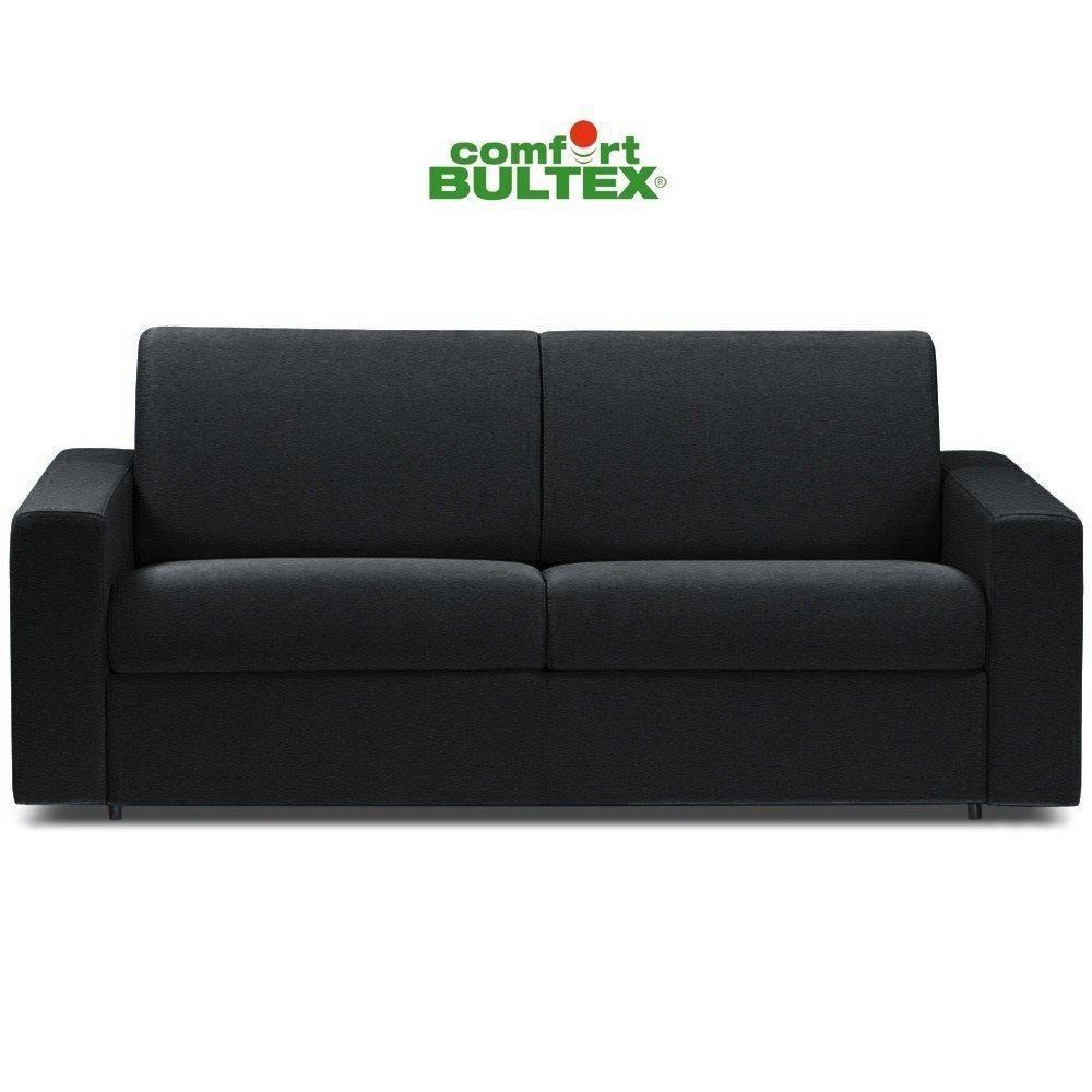 Inside 75 Canapé convertible rapido CRÉPUSCULE matelas 140cm comfort BULTEX® revêtement polyuréthane noir