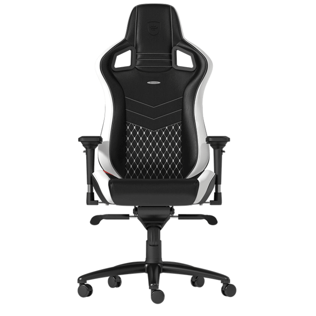 Noblechairs - EPIC - Vrai cuir - Noir/Blanc/Rouge - Chaise gamer