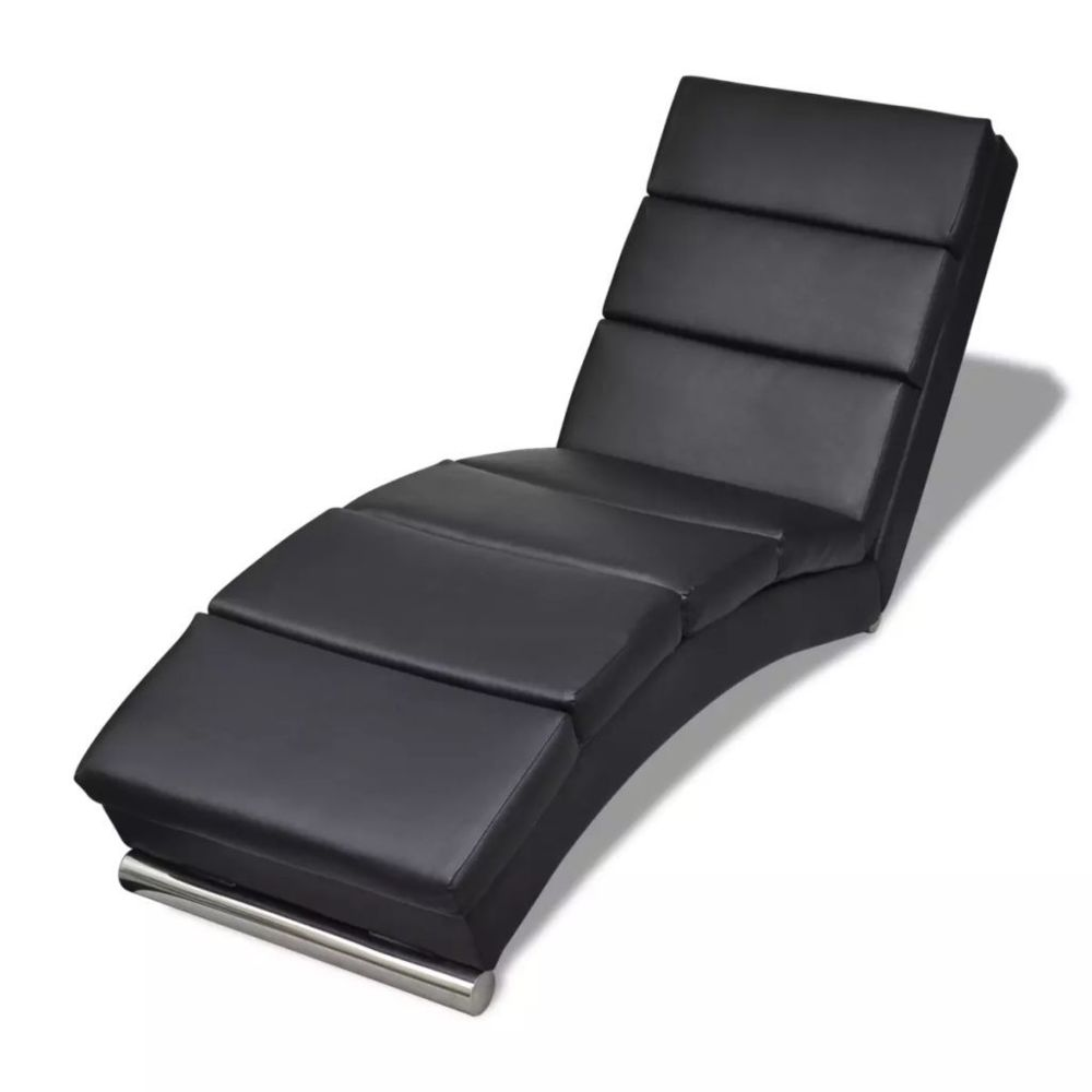 Vidaxl Chaise longue Cuir synthétique Noir | Noir