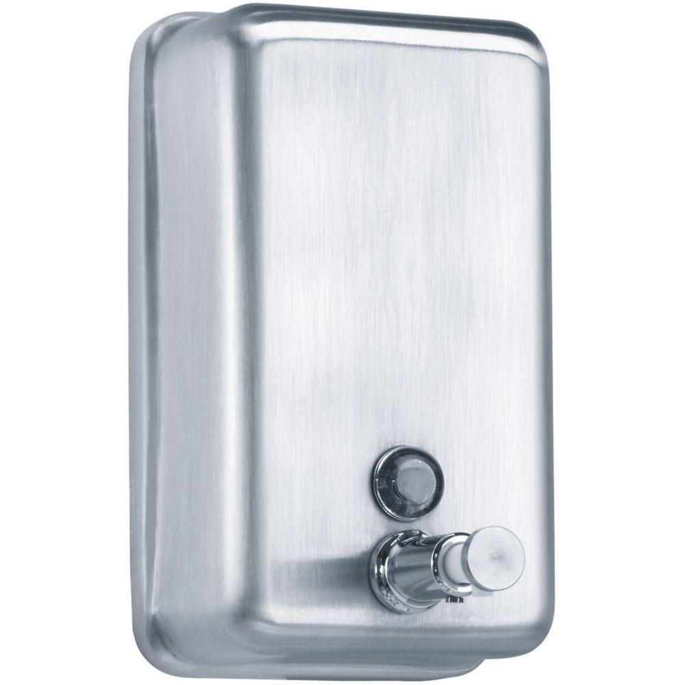Pellet distributeur de savon liquide - inox - 850 ml - fermeture à clé - voyant de niveau - pellet 878155