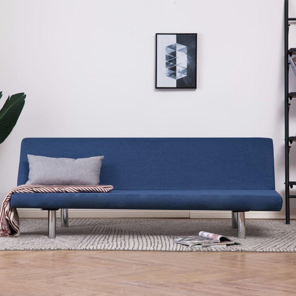 Vidaxl vidaXL Canapé-lit Bleu Polyester